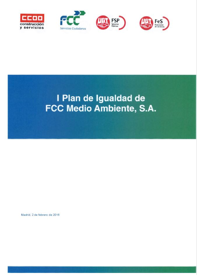 Equality Plan of FCC Environment S.A.
